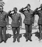 703rd 4 soldiers posing Camp Polk 1942