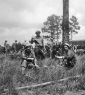 814th Chow time on the rifle range Aug 1942 Camp Polk