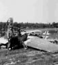 5th MajThompson in France inspects plane