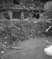 5th soldier inspects bombed out home